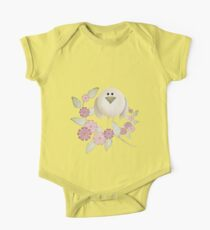 Cutie Bird .. perched among the flowers .. kids tee One Piece - Short Sleeve