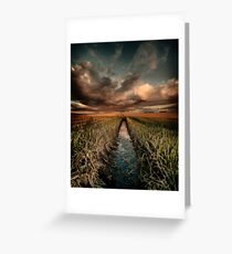 Irrigation ditch Greeting Card