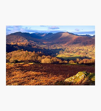 Fairfield from Loughrigg Fell - The Lake District Photographic Print