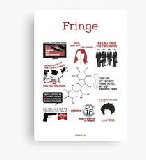 Fringe Quotes Metal Print