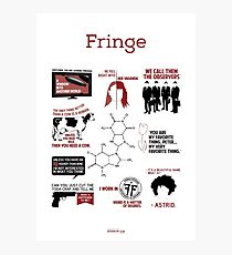 Fringe Quotes Photographic Print