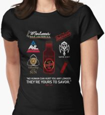 True Blood Logos Womens Fitted T-Shirt