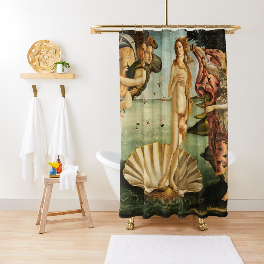 The Birth of Venus by Botticelli Shower Curtain