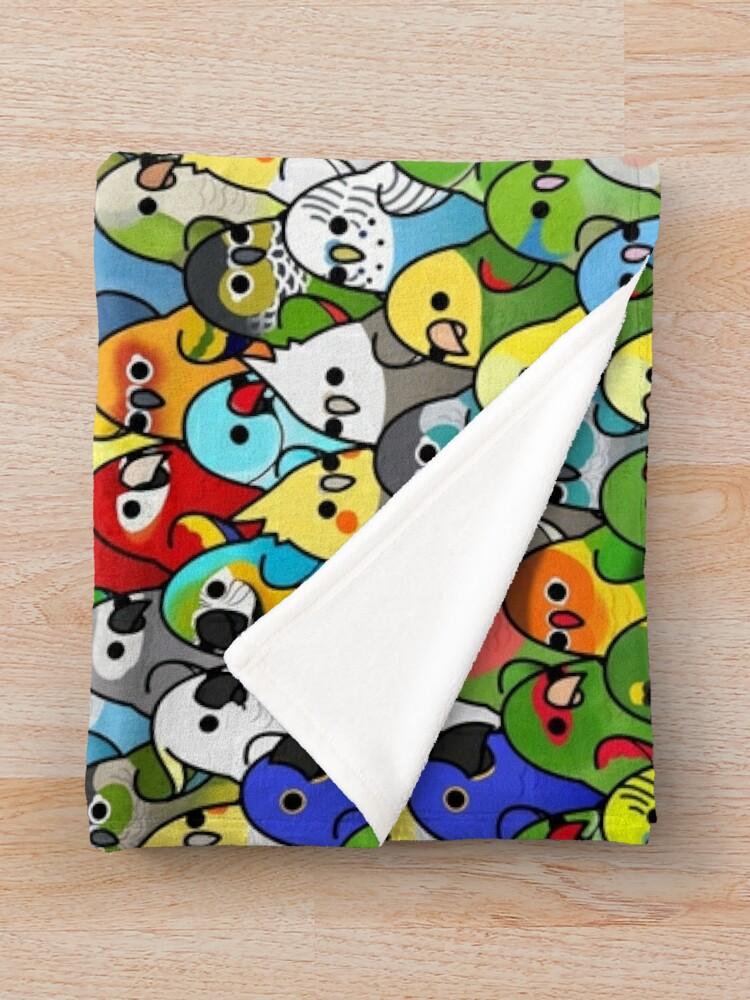 Alternate view of Too Many Birds! Bird Squad 1 Throw Blanket