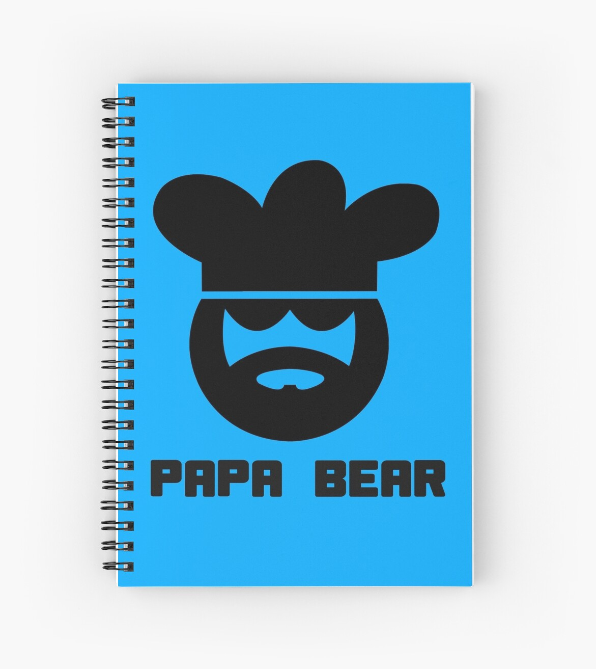 papa bear chef cook for men geek funny nerd spiral notebooks by