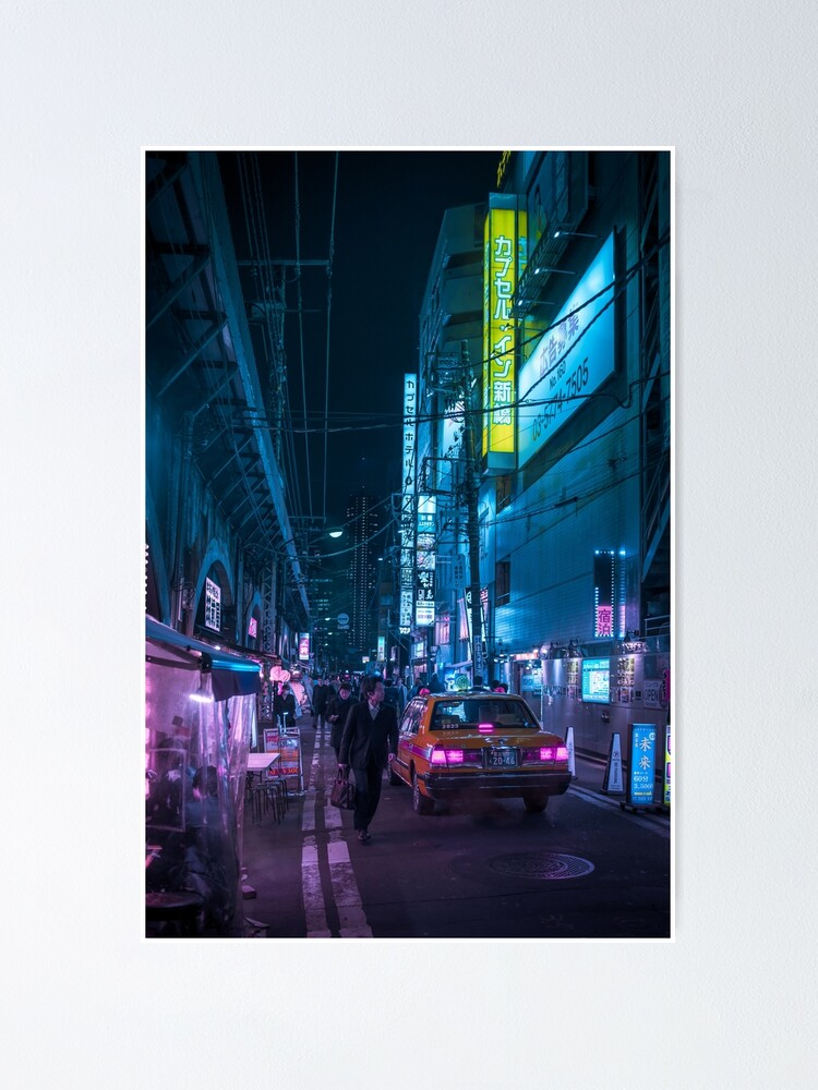 Alternate view of Taxi and Salaryman Poster