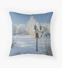 Winter Wonderland of White - Featured Photo & 1st Place Challenge Win! Throw Pillow