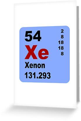 xenon tabla peridica de elementos de walterericsy