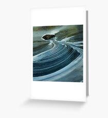 swirls below silverbridge - scotland Greeting Card