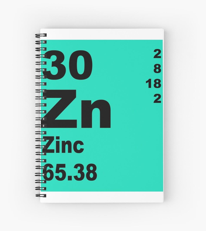 Cuadernos de espiral tabla peridica de zinc de elementos de tabla peridica de zinc de elementos de walterericsy urtaz Image collections
