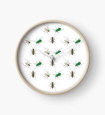Tiger Beetle Pattern Clock