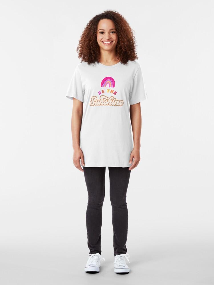 Alternative Ansicht von Sei der Sonnenschein - Pink Palette Slim Fit T-Shirt