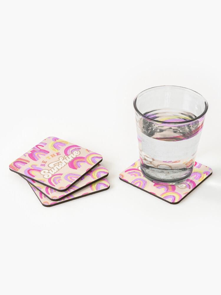 Alternative Ansicht von Sei der Sonnenschein - Pink Palette Untersetzer (4er Set)