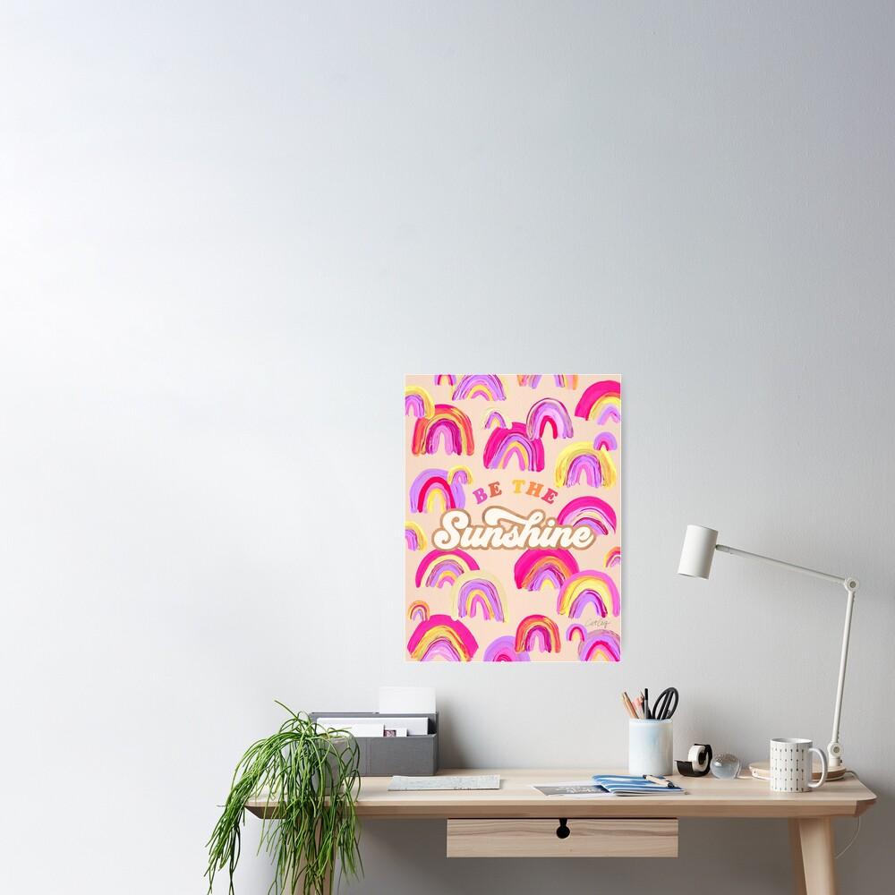 Sei der Sonnenschein - Pink Palette Poster