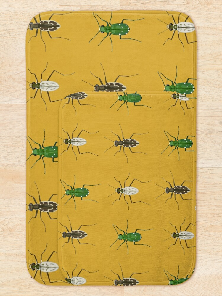Alternate view of Tiger beetle trio Bath Mat