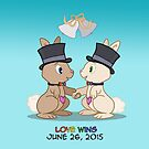 #LoveWins (or Skip & Pip celebrate Marriage Equality) by Catherine Dair