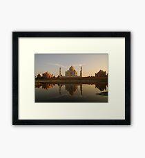 Taj Mahal Reflection Framed Print