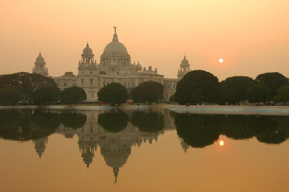 Victoria Monument reflection, Kolkata, India by Stephen Tapply
