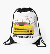 celica t18 supercharger Drawstring Bag