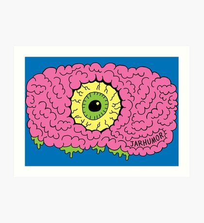Ojo cerebro monstruo Lámina artística