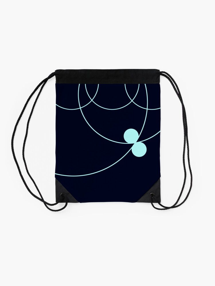 Alternate view of Midnight Blue Circles Pattern Drawstring Bag