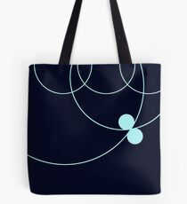 Midnight Blue Circles Pattern Tote Bag