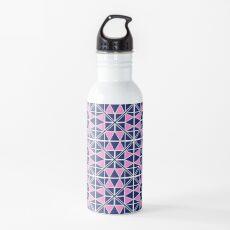 Navy Glow Pattern  Water Bottle