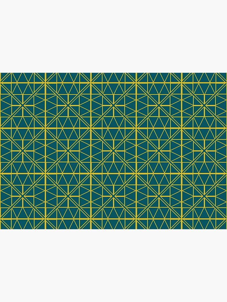 Green Triangle Pattern by GillianAdams