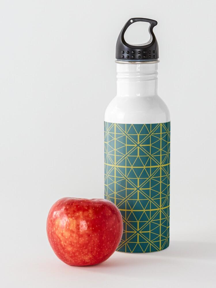 Alternate view of Green Triangle Pattern Water Bottle