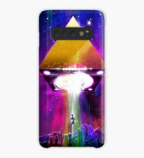 Abduction (Tetra) - Retro Synthwave UFO Pyramid Case/Skin for Samsung Galaxy