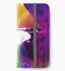 Abduction (Tetra) - Retro Synthwave UFO Pyramid iPhone Wallet/Case/Skin