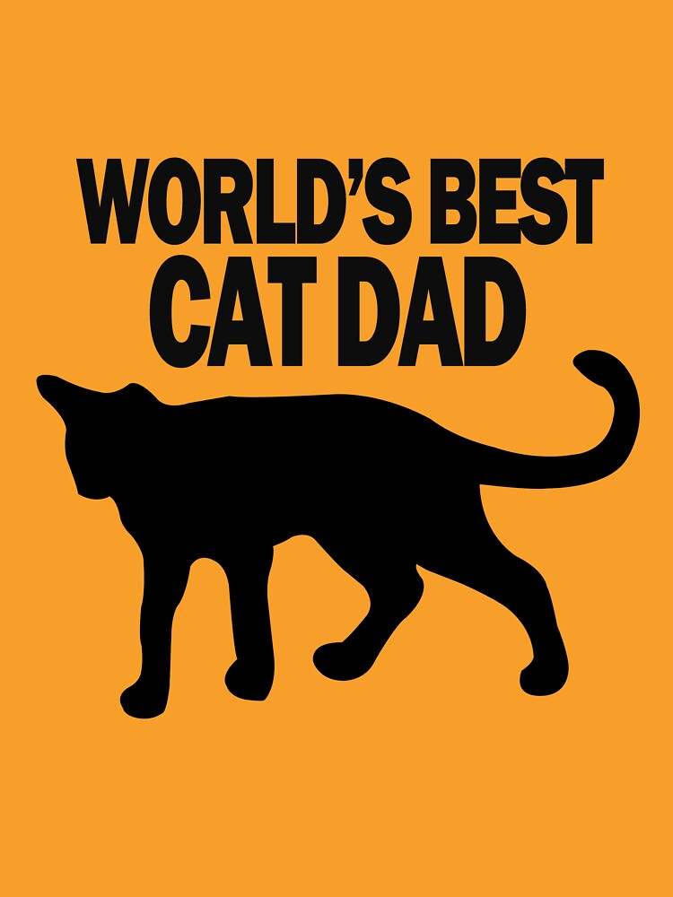 Worlds best cat dad funny geek funny nerd by katabudi