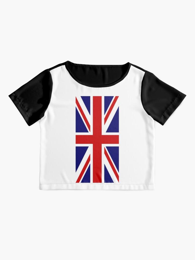 Alternative Ansicht von British, Union Jack, PORTRAIT, Flag, 1;2, UK, GB, United Kingdom, Pure & simple  Chiffon Top