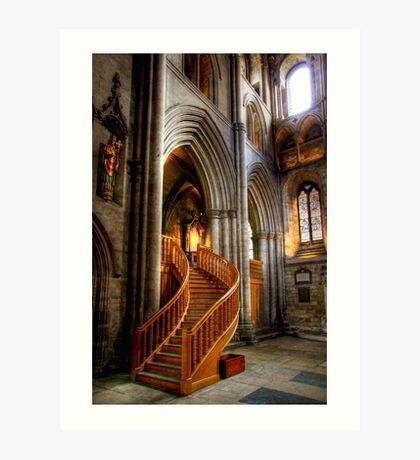 Glow of Gold, Ripon Cathedral Art Print