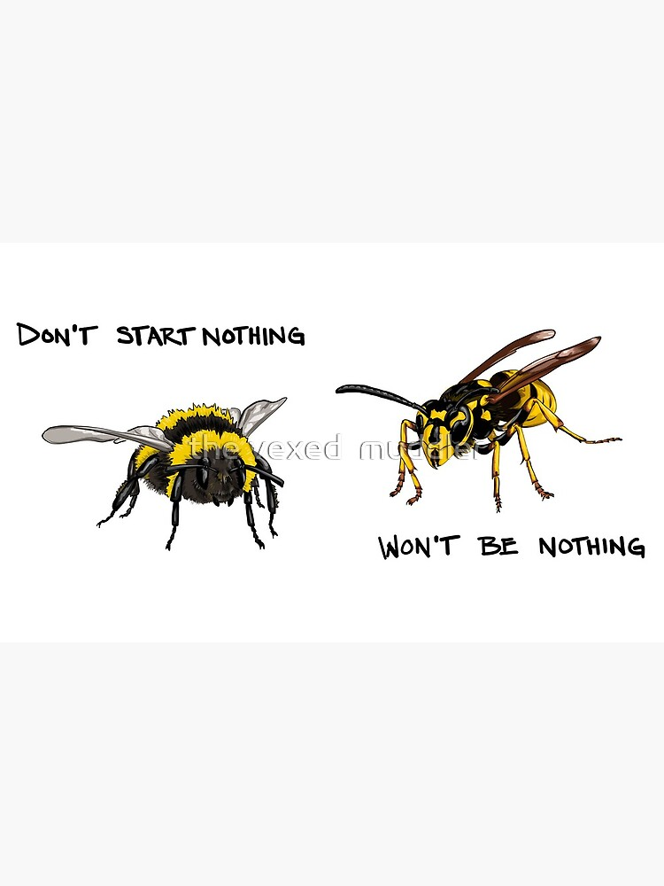 Don't start nothing - hymenoptera edition (for light shirts) by thevexedmuddler