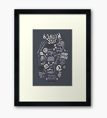 Tribal Trouble Framed Print