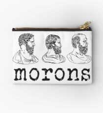 Inspired by Princess Bride - Plato - Aristotle - Socrates - Morons - Movie Quotes - Comedy Studio Pouch