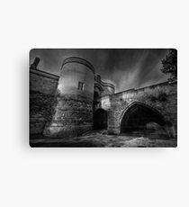Nottingham Castle v2.0 BW  Canvas Print