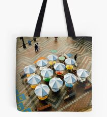 Outdoor Cafe on a Plaza Tote Bag