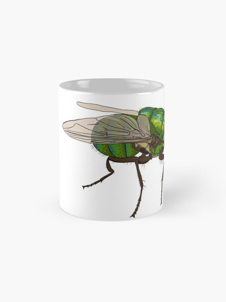 Alternate view of Chrysomya megacephala blowfly Mug