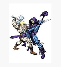 Heman versus Skeletor Photographic Print