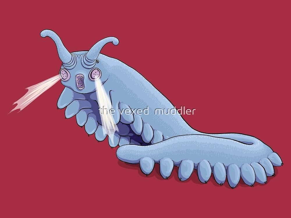 Blue Onychophora velvet worm  by the vexed  muddler