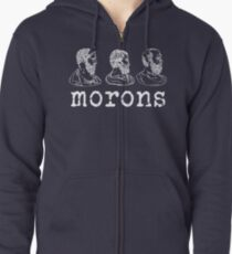 Inspired by Princess Bride - Plato - Aristotle - Socrates - Morons - Movie Quotes - Comedy Zipped Hoodie