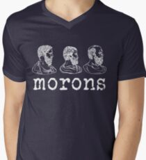 Inspired by Princess Bride - Plato - Aristotle - Socrates - Morons - Movie Quotes - Comedy Men's V-Neck T-Shirt
