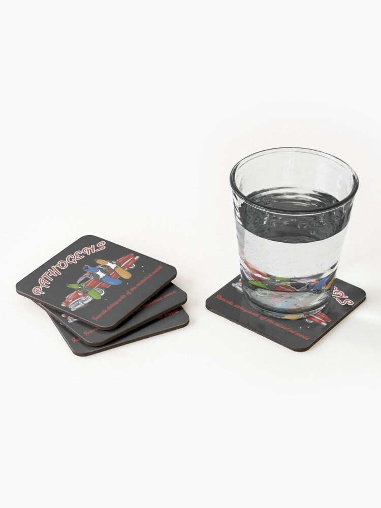Alternate view of Greaser Pathogens Coasters (Set of 4)