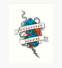 Molecular Badass Tattoo Art Print