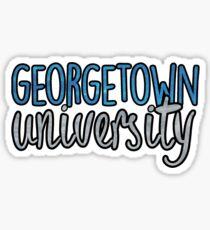 Georgetown University TwoTone Sticker