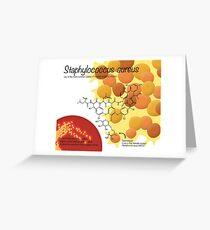 Staphylococcus aureus Greeting Card