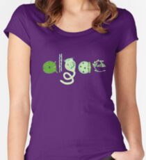 Literate Microscopic Algae Fitted Scoop T-Shirt