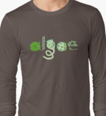 Literate Microscopic Algae Long Sleeve T-Shirt